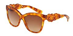 New Original Sunglasses Dolce & Gabbana Spain in Sicily DG 4264 512/13 Women Tortoise Square Gradient Dolce Gabbana sunglasses are a collection known for glamour and luxury. Dolce Gabbana's glasses have Mediterranean heritage and are a gl...