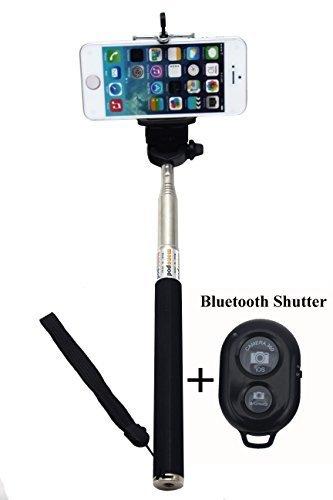 Gopromate(TM) Extendable Self Portrait Selfie Handheld Stick Monopod with Smartphone Adajustable Phone Holder and...