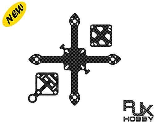 rjxhobby 70/83/90/95/110/118/128mm Micro Fibra de Carbono Mini FPV Racing Drone, 90 mm