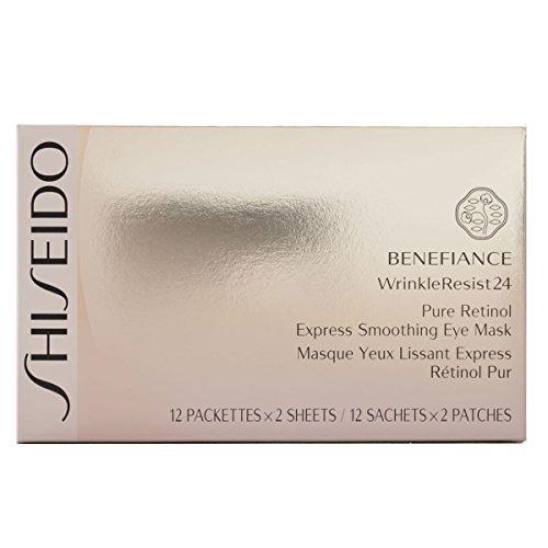 - Shiseido Benefiance WrinkleResist24 Pure Retinol Express Smoothing Eye Mask for Unisex 12 count