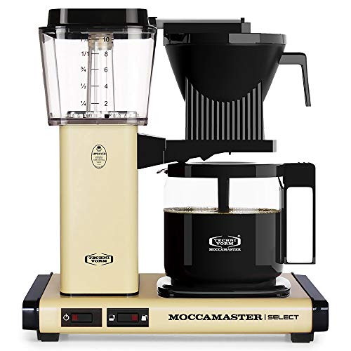 Moccamaster KBG Select Cafetera de filtro, 1520 W, 1.25 litros, Aluminio, Amarillo pastel