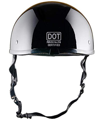 Gloss Black No Peak Crazy Als Worlds Smallest/Motorcycle Helmet -/DOT Approved/Ultra Low Profile Beanie X-Large