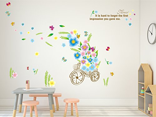 Solimo Wall Sticker for Living Room (Flower Delivery, ideal size on wall: 148 cm X 96 cm)