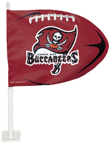 Football Shaped Car Flag - NFL Tampa Bay Buccaneers Football Shaped Car Flag