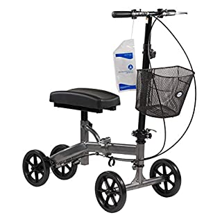 Dynarex Steerable Knee Walker with Basket - Compact