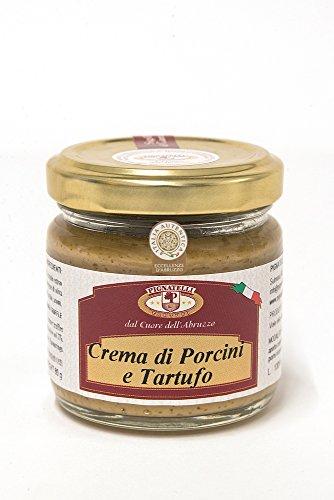 Truffle and porcini cream 80g - Ingredients: black summer truffles 5%, porcini mushrooms, extra virgin olive oil, truffle brew, spices, salt and aromas - (DF13)