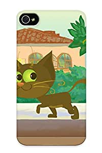 Series Skin Case Cover For Iphone 4/4s(animated Cat )