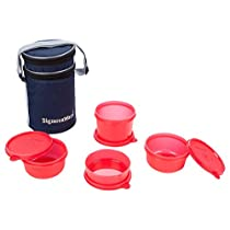 Signoraware Executive Lunch Box Set, 4-Pieces, Red