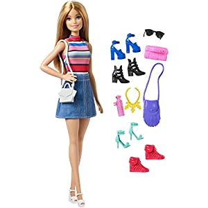 ​Barbie Doll with 11 Fashion...
