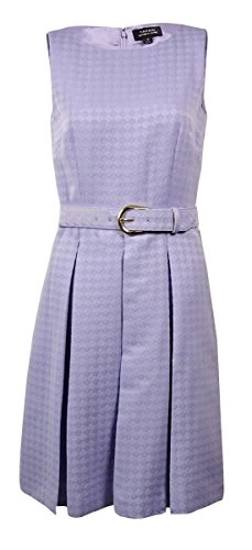 Buy belted jacquard dress - 6
