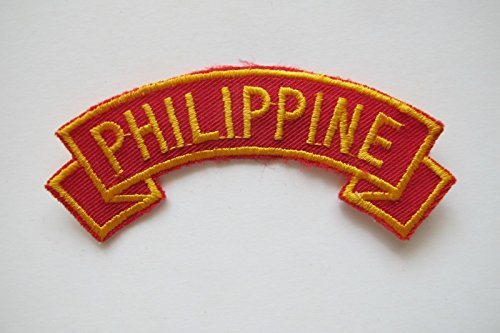PHILIPPINE Word Tag Embroidery Sew On Applique Patch by ade_patch