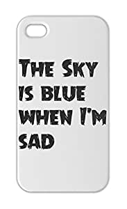 The Sky is blue when I'm sad Iphone 5-5s plastic case