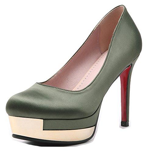 Talon Escarpins Vert Plateforme Sexy Aisun Femme Aiguille Mariée xUB11t