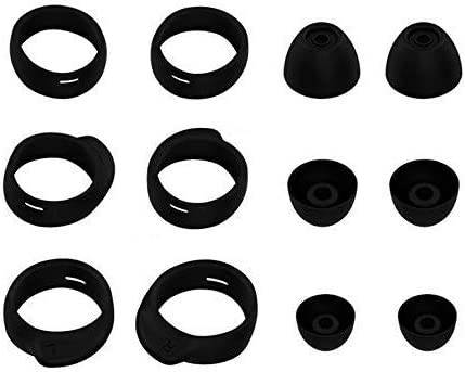 Silicone Ear Buds Gels Earphones Cover Tip Eartip for Galaxy Buds,S M L 3 Size 6 Pairs,Black BT6PB JNSA Replacement Ear Tips for Samsung Galaxy Buds