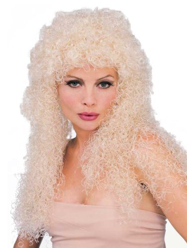 Rubie's Long Blond Curly Wig, Yellow, One Size -