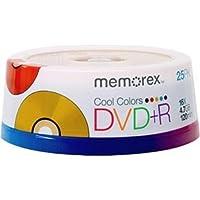 Memorex DVD+R 16X Cool Colors 25pack
