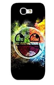 New Colorful Awesome Face Tpu Case Cover, Anti-scratch Crazinesswith Phone Case For Galaxy Note 2