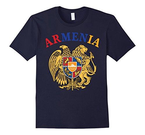 Men's Armenia Armenian Flag Coat of Arms Jersey T-Shirt 3XL (Flag Coat Arms)