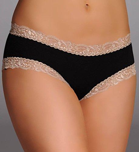 Delites Boyshort Fleurt Panties Lulus (Fleur't LuLu's Delites Boyshort Panties (205) L/Black/Nude)