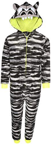 Sleep On It Boy\'s Micro Fleece Onesie Pajamas with Character Hood (Gorilla, ()
