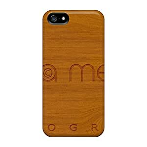 Awesome Case Cover/iphone 5/5s Defender Case Cover(luna Messi Photography - Wood Textures)