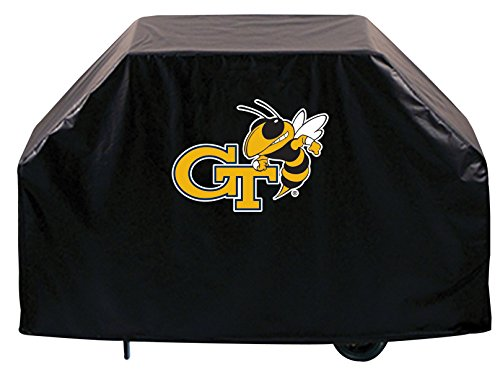 Holland Bar Stool Co. Georgia Tech Yellow Jackets HBS Black Outdoor Heavy Vinyl BBQ Grill Cover (60