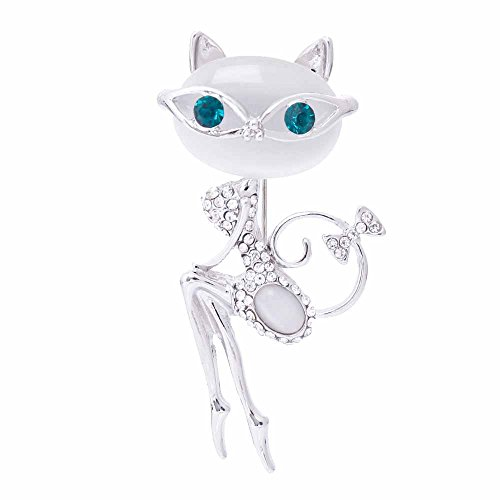 - river home Opal Brooch Cat Wearing Sunglasses Woman Sexy Cute Cat Pin And Brooch Wedding Accessories