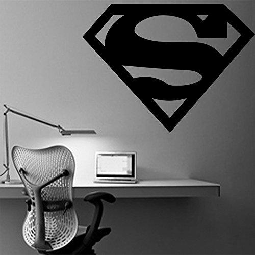 (Superman Logo Wall Poster Injustice Wall Vinyl Decal Superhero Vinyl Art SUPERMAN Wall Vinyl Sticker Decor for Home LivingRoom Design Bedroom Sticker sm2)