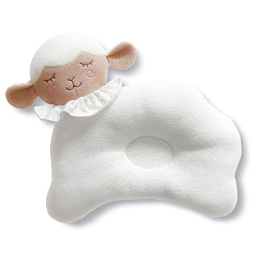 Organic Cotton Baby Head Positioner and Shaping Pillow – Helps Prevent Flat Head Syndrome (Plagiocephaly) and Provides Head and Neck Support for Your Newborn Baby (0-12 Months) (1-Pack, Little Lamb) by AnPei