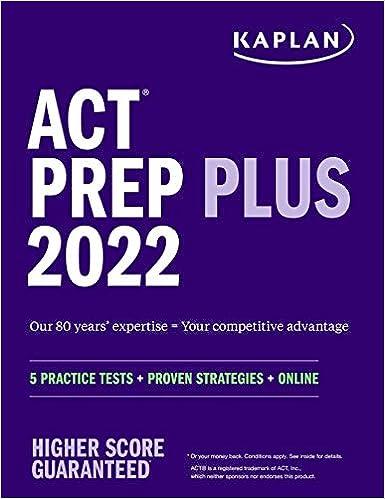 ACT Prep Plus 2022: 5 Practice Tests + Proven Strategies + Online (Kaplan Test Prep)