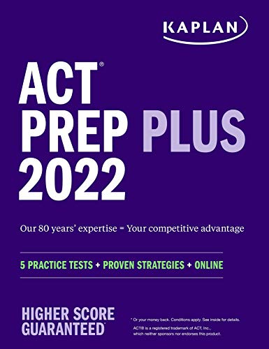 ACT Prep Plus 2022: 5 Practice Tests + Proven