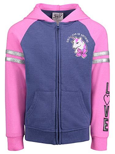 (Jojo Siwa (934830WASJ) Girls Signature Bow Hoodie in Pink/Blue, 4)