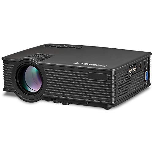 Projector, PHONECT 2400 LUX 4Inch Mini Projector with 170