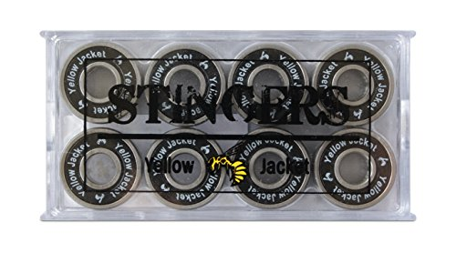 Yellow Jacket Premium Skateboard Bearings, Pro Longboard Bearings, 608, ABEC (Pack of eight) – DiZiSports Store