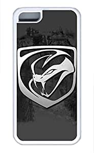 iPhone 5C Case, iPhone 5C Cases - Protective Soft-Interior Scratch Protection Case for iPhone 5C Dodge Viper Car Logo 19 Soft Flexible Extremely Thin White Case for iPhone 5C