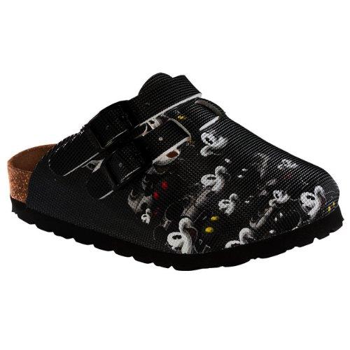 Birki's Disney Mickey Mouse Many Mickey Black Kay Kids Clogs Shoes (30 EU/12-12.5 US Little Kid)
