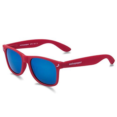 swisspepper Sunglasses / RED -- BLUE - Blue Red Sunglasses