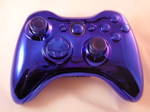 CHROME BLUE Xbox 360 Modded Controller (Rapid Fire) COD MW3