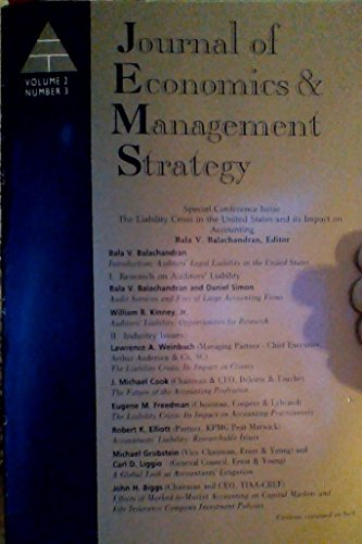 Journal of Economics & Management Strategy - Volume 2, Number 3, Fall 1993