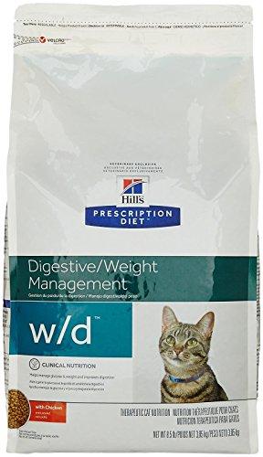 Hill's Prescription Diet w/d Feline Low Fat - Glucose Management Gastrointestinal - 8.5lb