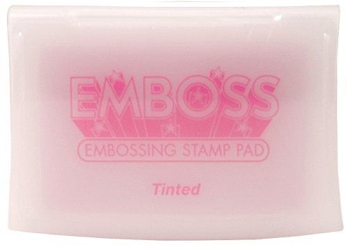 - Tsukineko Full-Size Emboss Inkpad, Tinted Light Pink