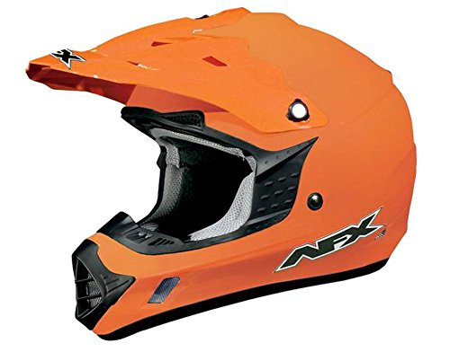2014 AFX FX-17 Solid Motocross Helmets - Orange - Small