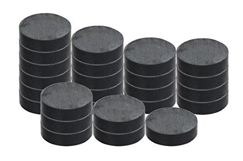 RAM-PRO 25-Piece Powerful Magnetic Round Ferrite Magnet Discs with ¼