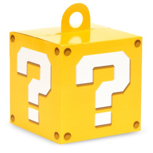 Mario Box Costume (Super Mario Party Supplies - Empty Favor Boxes (4))