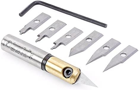 """Amana Tool 1//2/"""" Shank In-Groove CNC Insert Engraving 8 Piece Set AMS-209"""