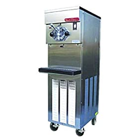 SaniServ 614 Floor Model Air or Water Cooled Shake Freezer with (1) Head, 20 Quart Mix Capacity & 2 HP Compressor