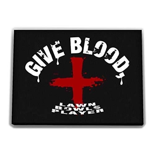 Idakoos Give Blood, Lawn Bowls Player Canvas Wall 12