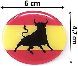 MoICar Bandera de España con Toro Pegatina 3D Adhesivo Relieve Resina Flexible Ref:2364: Amazon.es: Coche y moto