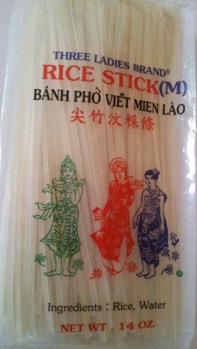 Rice Stick Noodles - Rice Stick Noodle - 14 Oz. (Pack of 3 Bags) (Medium)
