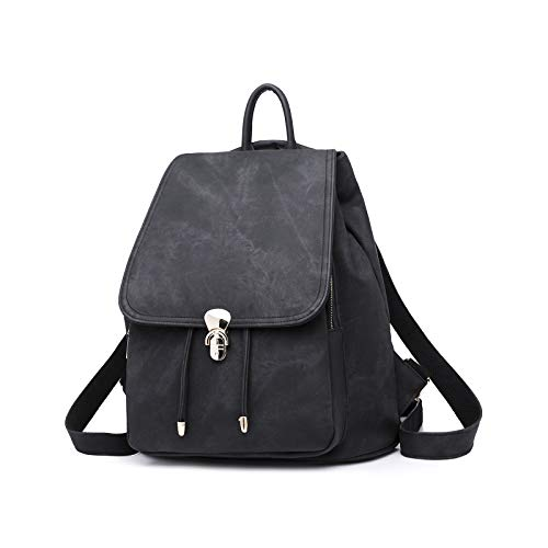 - Qyoubi Women's Leather Fashion Backpack Purse Anti-theft Schoolbags Girls Casual Convertible Multipurpose Shopping Travel Bag Black